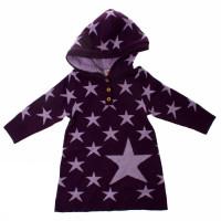 WOOL MINI KNIT LS STAR DRESS