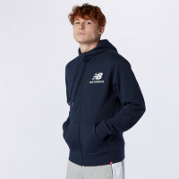 ESSENTIALS STACKED FULL ZIP HOODIE ECLIPSE