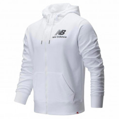 ESSENTIALS STACKED FULL ZIP HOODIE White Black - Giacca