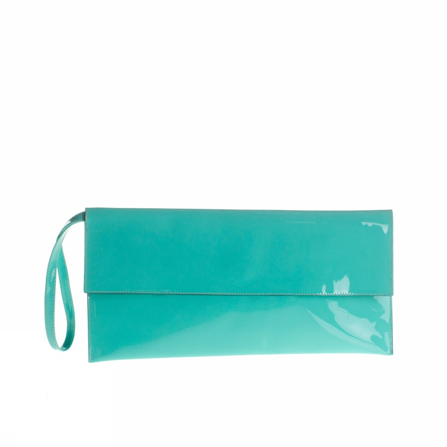 Foto POCHETTE PICCOLA VERNICE ACQUAMARINA GIUGIOLA Clothing Accessories